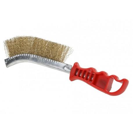 Drahtbürste mit Kunststoffgriff (rot)