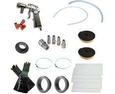 Strahlkabine selbstbau Paket type 1 für eine Sandstrahlkabine von 200 bis 300 liter - Strahlkabine Zubehör Set