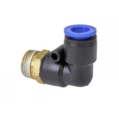Winkelstück anschluss aus Messing - Kunststoff für Strahlkessel PP-T 0012